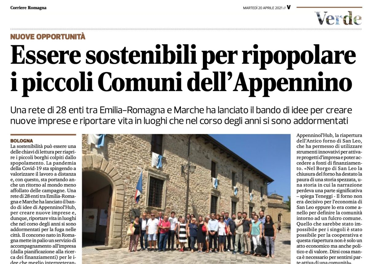 Corriere Romagna Verde - 20 Aprile 2021