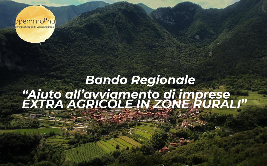 bando regione imprese rurali, lo sfondo è un paese delle aree interne